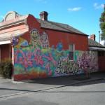 Graffiti, corner Drummond and Lee Streets